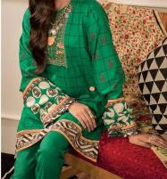 Winter Khaddar Neck Embroidery Suit With Wool Dupatta (KD-60) (UnStitched)  Price in Pakistan