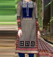 Ajrak Design Khadder Embroidered Suit with Wool Dupatta (KD-79) (UnStitched) Price in Pakistan