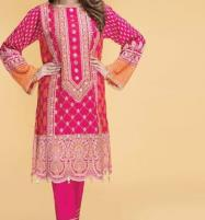Winter Pink Khaddar Neck Embroidery Suit With Wool Dupatta (KD-61) (UnStitched) Price in Pakistan