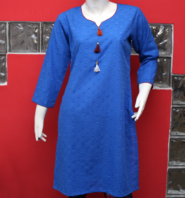 Women Blue Printed Lawn Kurti (EK-123) (Stitched) Price in Pakistan