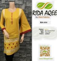 YELLOW Stitched Embroidered Kurti 2020 (RA-1032) Price in Pakistan