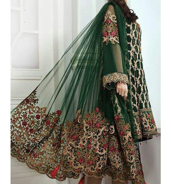 Chiffion Embroidered Suit Unstitched (CHI-119)
