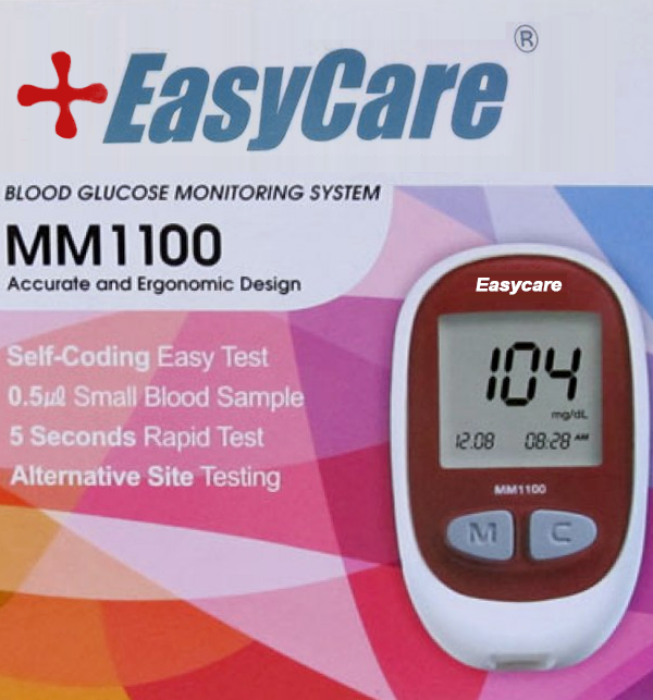 Easy Care Blood Sugar Monitoring Device  + 10 Test Strips
