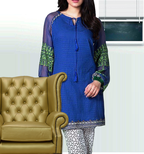 Embroidered Lawn Dress (Shirt+Trouser) Full Embroidery (Unstitched)  (DRL-234)