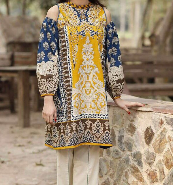 Linen Embroidered Suit With WOOL SHAWL DUPATTA  (LN-17)