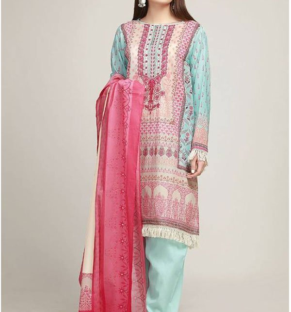 Embroidery Suit With CHIFFON Dupatta (DRL-294) (UnStitched)