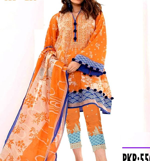 Khaddar Embroidery Suit with Wool Shawl (Unstitched) (KD-48)