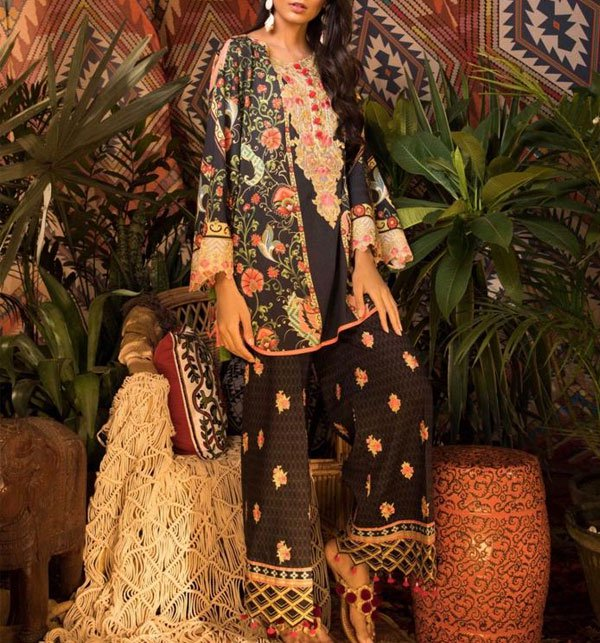 Khaddar Embroidery Suit With Wool Shawl Dupatta UnStitched (KD-25)