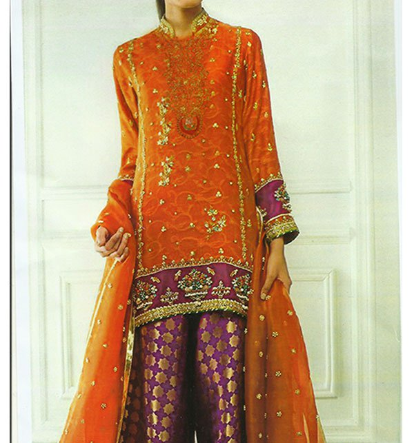 Lawn Embroidered Dress With Chiffon Dupatta Printed Trouser (DRL-366) (Unstitched)