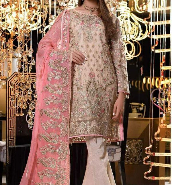 Maysoori Suit with Chiffon EMBRODERY Duppatta (CHI-286) (Unstitched)
