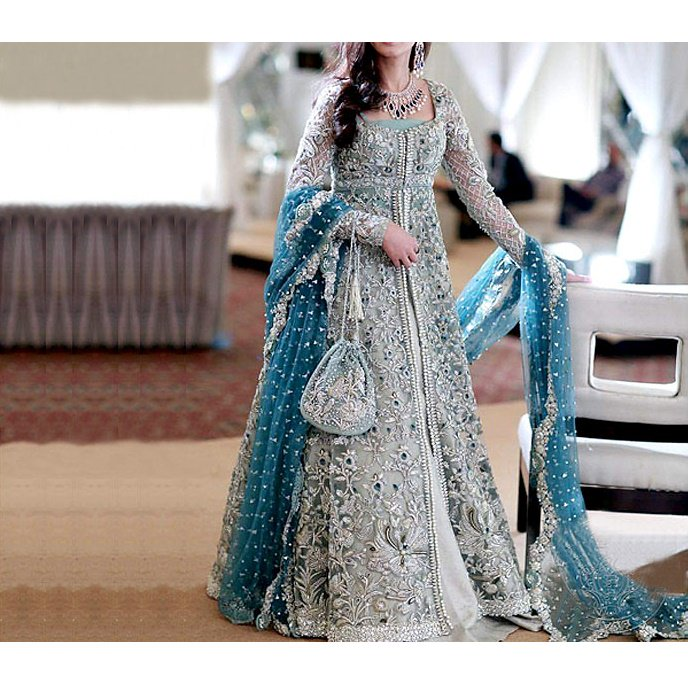 Designer Embroidered Chiffon Bridal Dress (CHI-21)