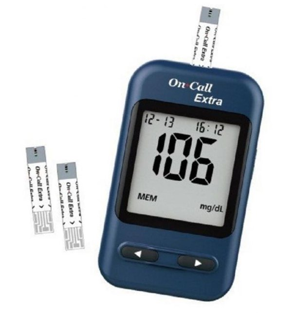 On Call Extra Blood Glucose Monitoring System + 10 Test Strip