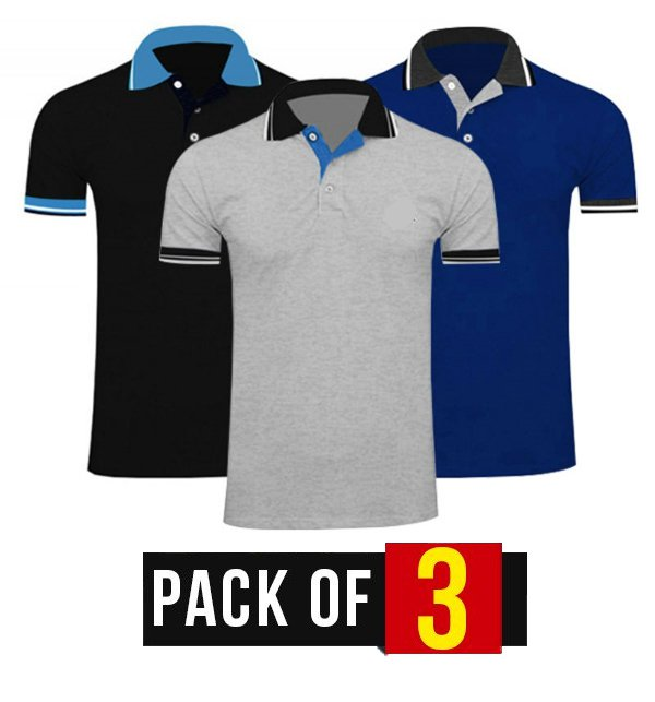 Pack of 3 Men's T-Shirts (Deal-2) - (38392)