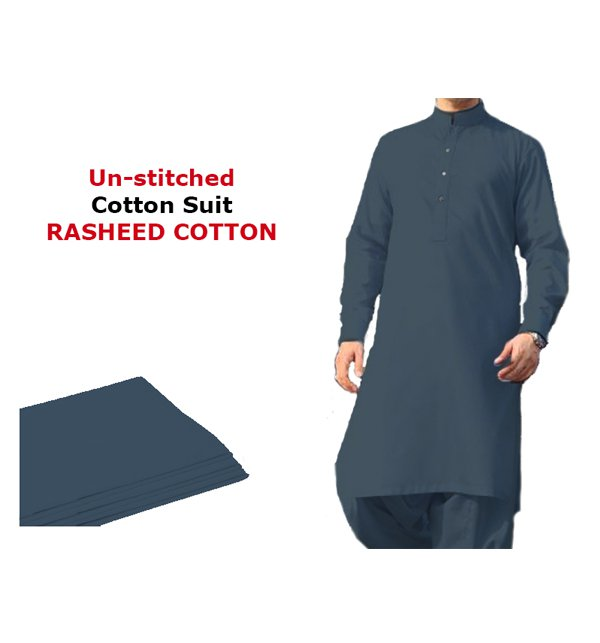 Rasheed Cotton (Orignal)  Men's Kameez Shalwar Unstitched (MSK-15)