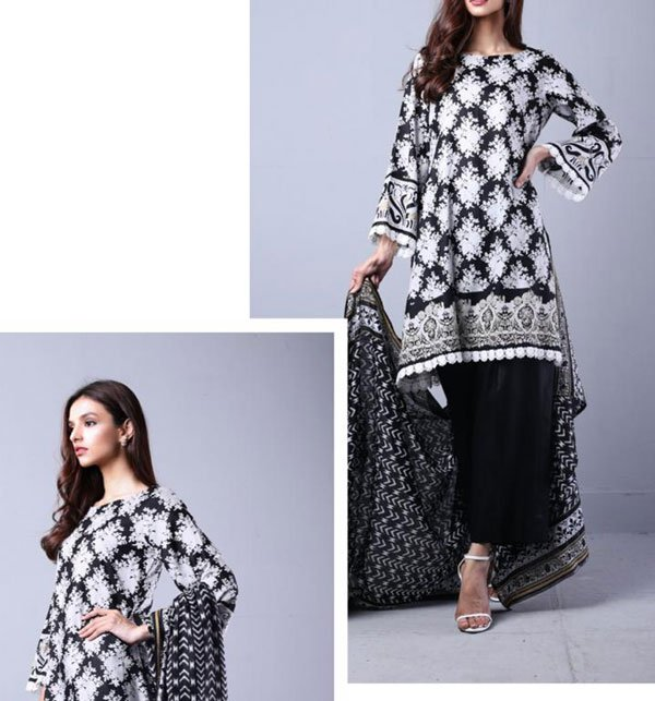 Sahil Lawn Suit with Lawn Dupatta (SL-22) (Unstitched)