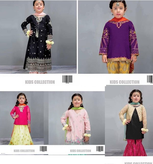 Sale Box OF 5 - Kids Embroidered Lawn Collection 2019 (Unstitched)