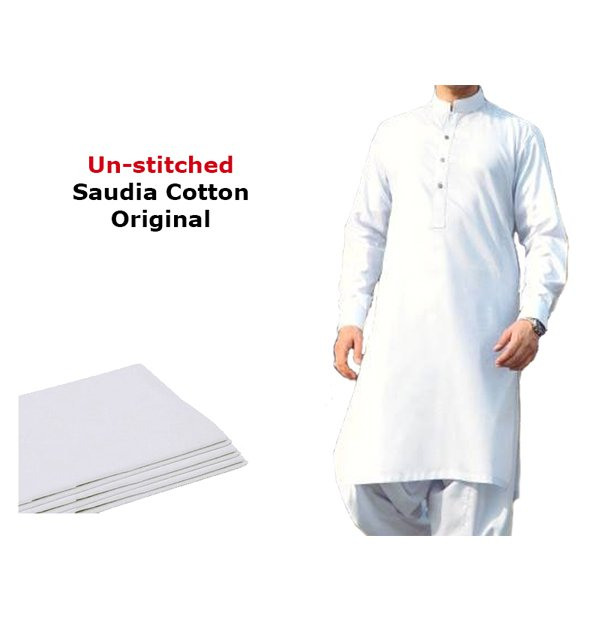 Saudia Cotton (Orignal) Men's Kameez Shalwar Unstitched (MSK-18)