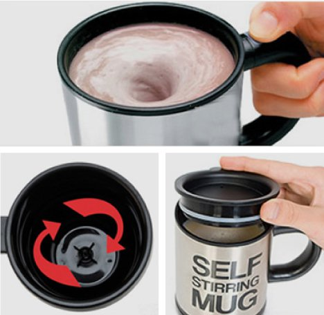 Self Stirring Coffee Cup/Mug Stainless Steel