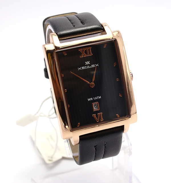 Xenlex Leather Analog Watch For Men (CW-86)