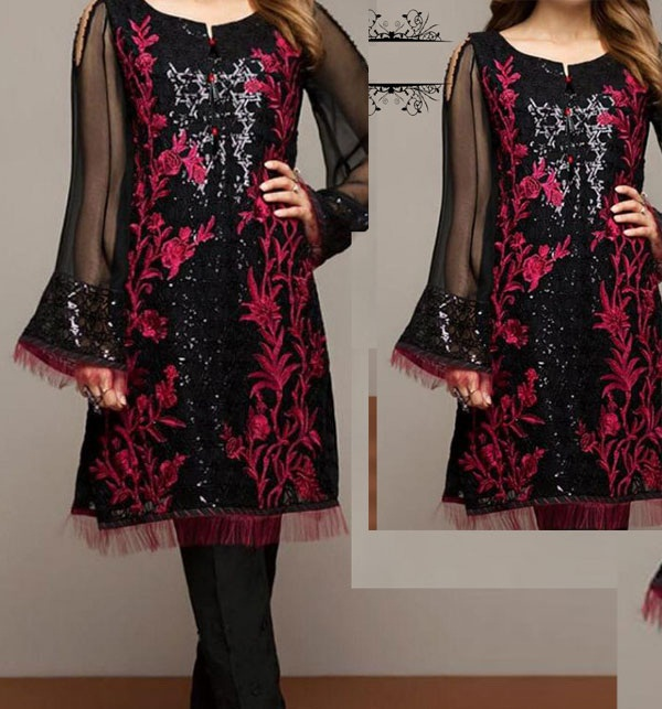 Lawn 2-Pcs Sequins Heavy Embroidered Dress 2020 (Unsitched)  UnStitched (DRL-642)