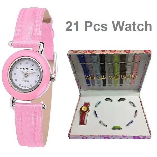 Big Friday Sale in Pakistan 21 Pieces Ladies Watch Gift Set (41742)