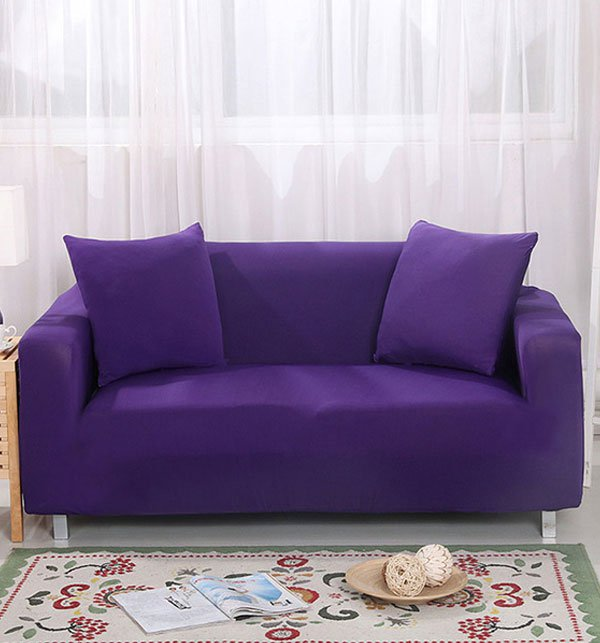 5 seater Jersey Sofa Cover -  Dark Purple (3 + 1 +1 Seater)
