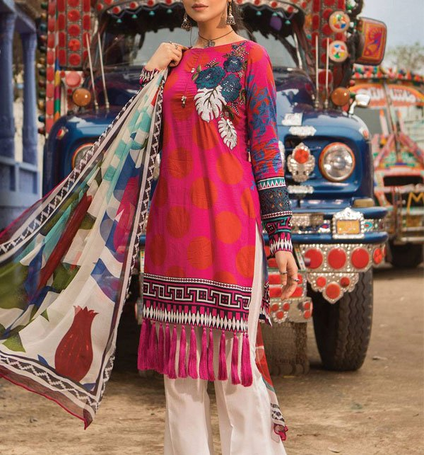 Embroidered Lawn Unstitched 3 Piece Suit  (DRL-339) (Unstitched)