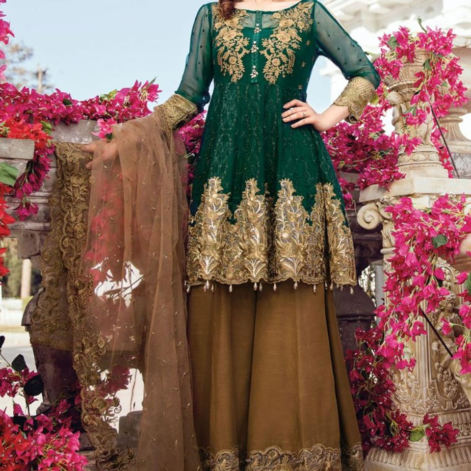Embroidered Chiffon Unstitched Dress (Unstitched) (CHI-134)