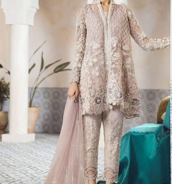 FULL EMBROIDERY Designer 3PC NET Suit With NET Dupatta - PARTY WEAR DRESS (CHI-243) (Unstitched)