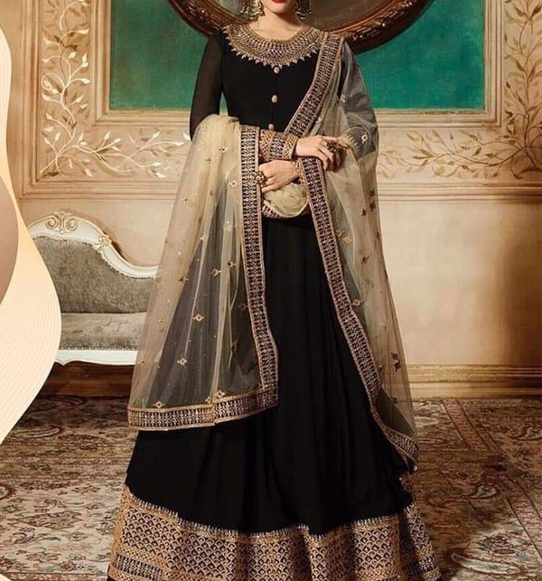 Latest Beautiful Chiffon Embroidered Maxi With Net Embroidery Dupatta Unstitched (CHI-191)