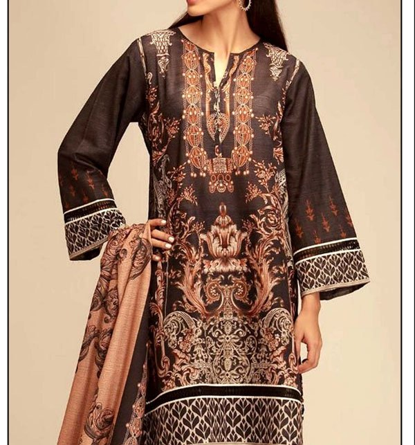Lawn Embroidered Dress With Lawn Dupatta (DRL-248) (Unstitched)