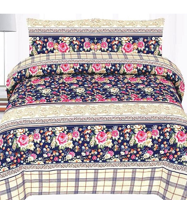 NEW ARRIVAL King Size PC Polyester Cotton Bed Sheet (PC3D-43)
