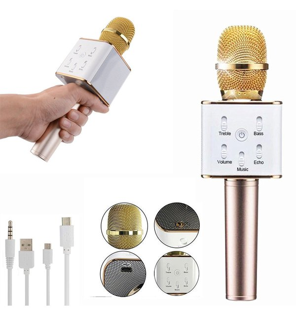 Portable Handheld Wireless Microphone With Speaker And Bluetooth Condenser Microphone (MIC-01)